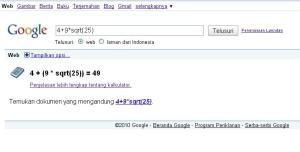 Kalkulatornya Google