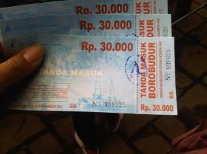 Tiket Masuk Borobudur
